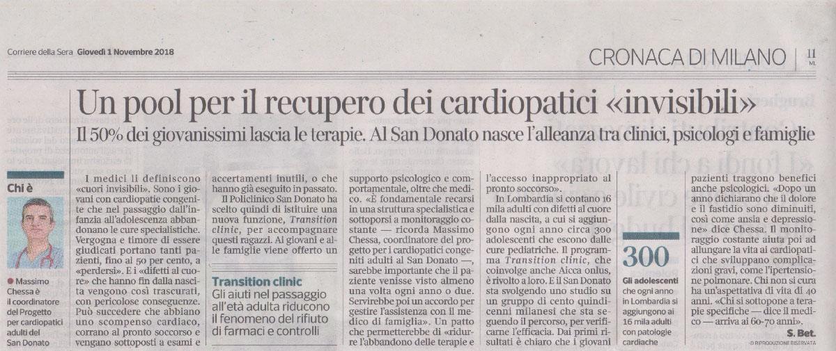 3. Corriere della Sera 1 novembre 2018